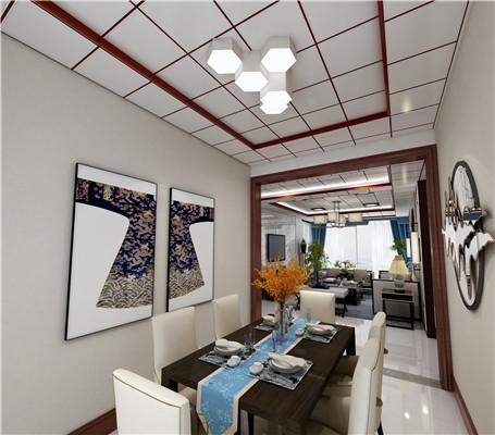 新中式餐厅吊顶怎么装