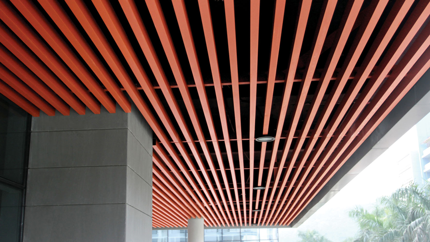 关于佛山美利龙与商场铝方通工程合作案例