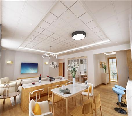 客厅装铝扣板吊顶好看吗?