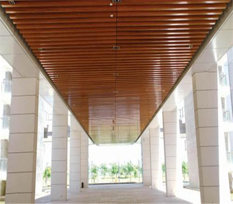 走廊铝方通吊顶效果怎么样?