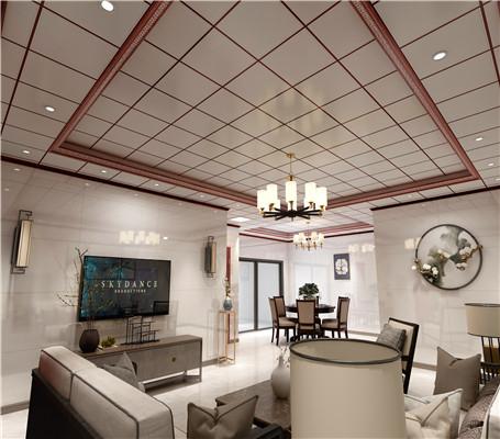 客厅铝扣板吊顶厂家之新中式铝扣板吊顶怎么样?-佛山美利龙