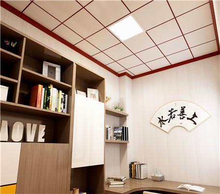新中式书房铝扣板吊顶效果图