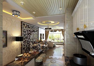 铝扣板吊顶效果图餐厅-简欧式铝扣板吊顶效果图好看吗