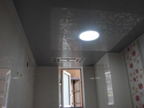 圆形集成吊顶效果图-简约铝扣板吊顶效果图