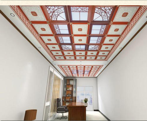客厅吊铝扣板平板图-客厅装铝扣板吊顶好看吗