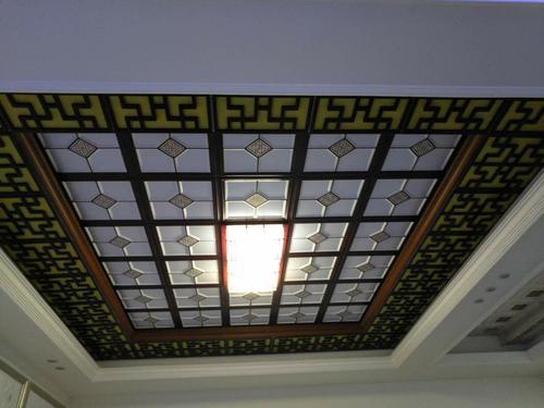 大厅铝扣板吊顶效果图-中式铝扣板吊顶效果图