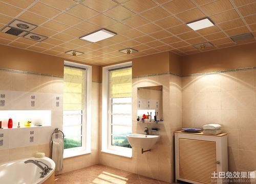 卫生间厨房铝扣板效果图-铝扣板集成吊顶效果图