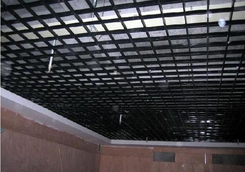 铝格栅铝扣板-铝格栅安装效果