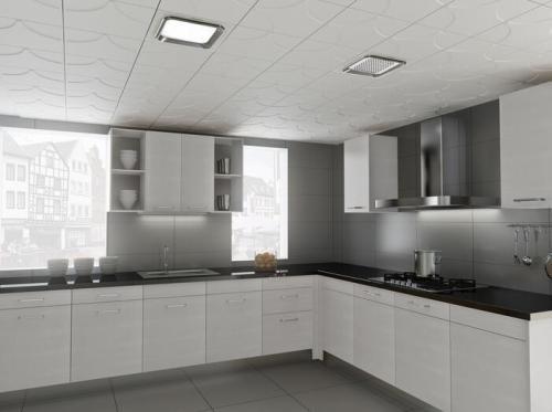 厨房吊顶用白色铝扣板-厨房铝扣板吊顶厂家讲讲厨房吊顶用PVC还是铝扣板