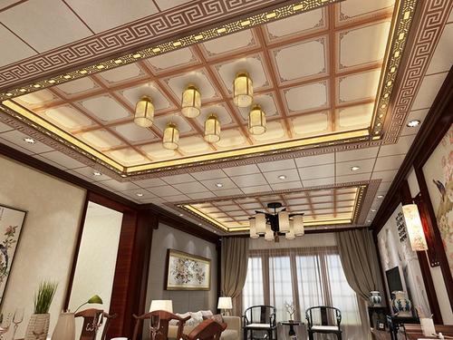 客厅集成吊顶实景-客厅集成吊顶的四大特点及效果图