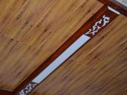 木纹铝扣板吊顶效果图-新式铝蜂窝大板吊顶效果图