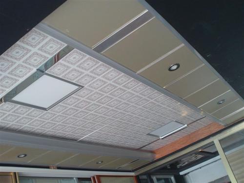 集成吊顶二级顶-客厅二级铝扣板集成吊顶-铝扣板二级集成吊顶做法