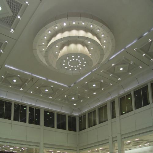 异型吊顶铝扣板-斜异型铝扣板吊顶-铝扣板异型吊顶图