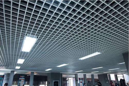 跟着佛山铝天花厂家看格栅铝天花吊顶效果图-佛山美利龙
