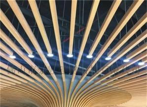 仿木纹包柱铝方通