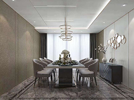 客厅铝蜂窝板吊顶效果图